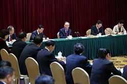 王岐山參加黨的十九大湖南省代表團討論