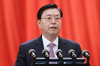 張德江作全國人大常委會工作報告