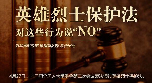 """英雄烈士保護法對這些行為説""""NO"""""""