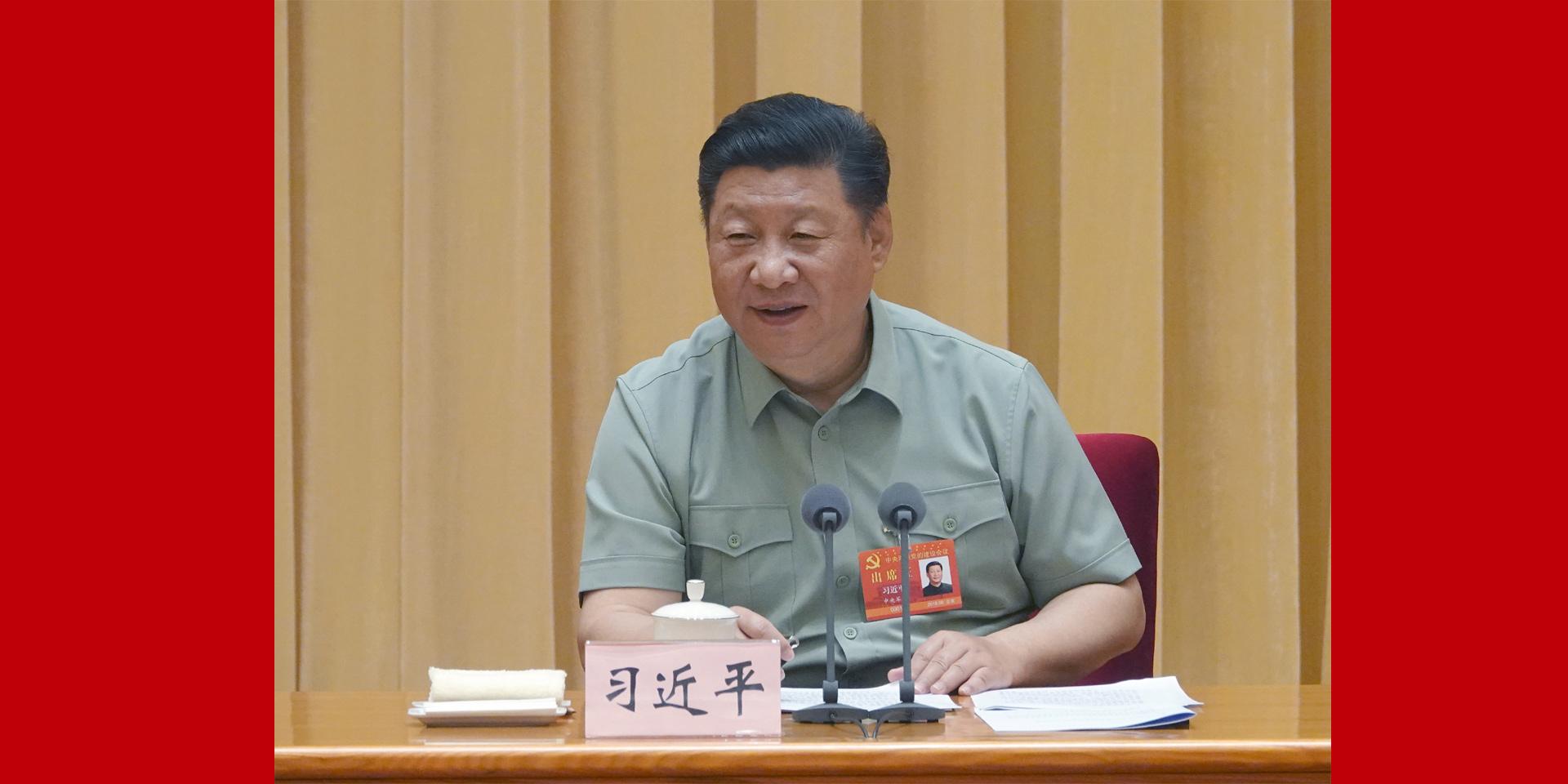 黨的領導和黨的建設是我軍建設發展的關鍵。