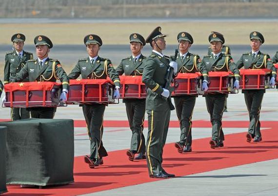 第六批在韓中國人民志願軍烈士遺骸回國