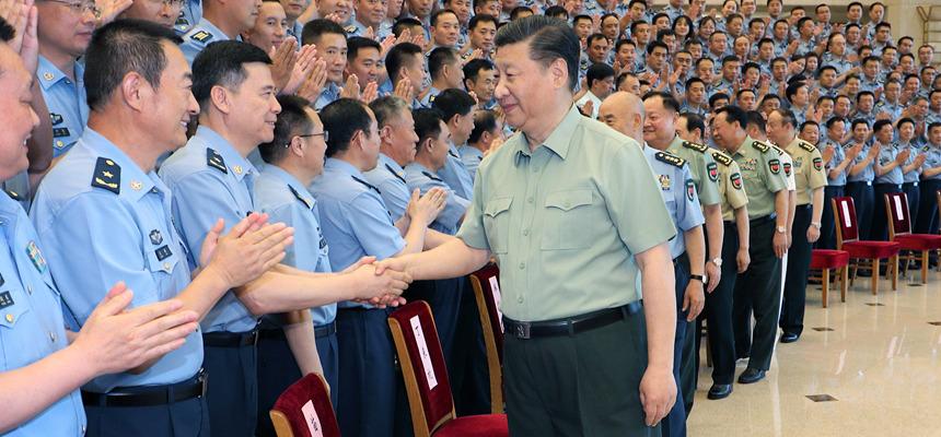 習近平接見空軍第十三次黨代會代表