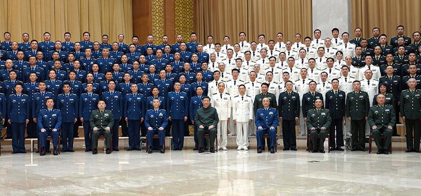 習近平分別接見聯勤保障部隊第一次黨代會代表、駐湖北部隊副師職以上領導幹部和團級單位主官