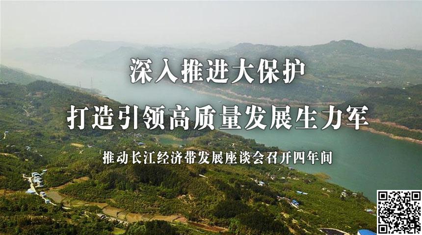 深入推進大保護 打造引領高質量發展生力軍——推動長江經濟帶發展座談會召開四年間