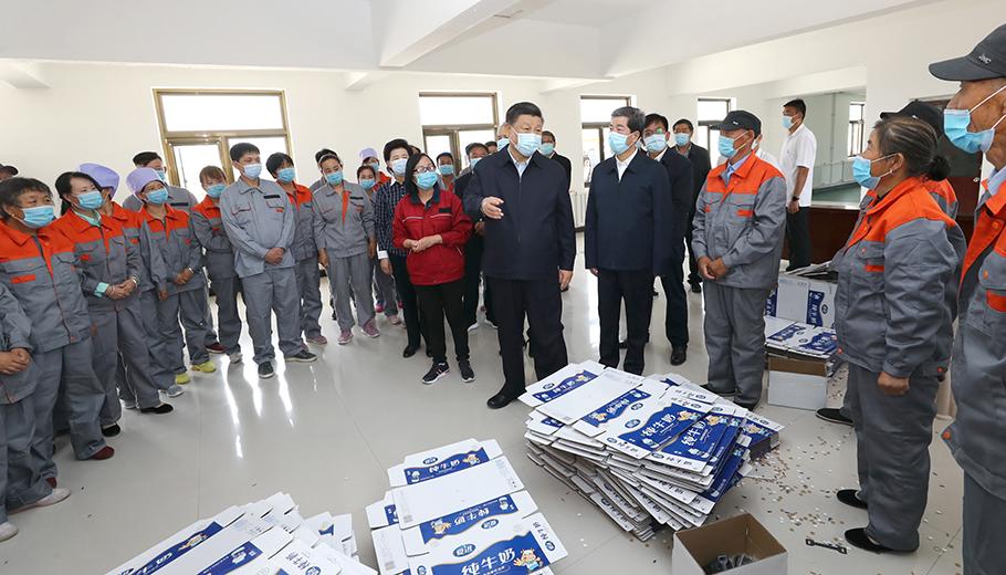 新华社独家视频|总书记考察的弘德村有这样一个扶贫车间