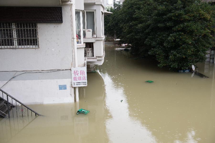 新安江水庫泄洪 建德部分城區出現積水