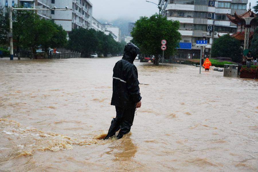 江西南昌遭遇強降雨