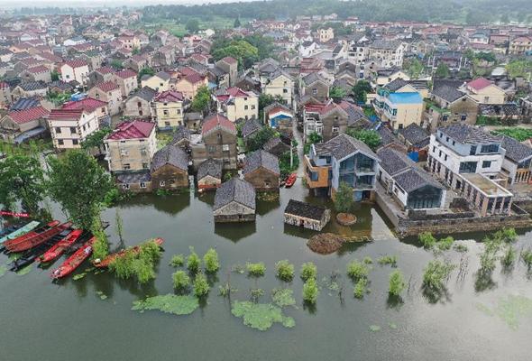 江蘇南京:石臼湖水位持續上漲