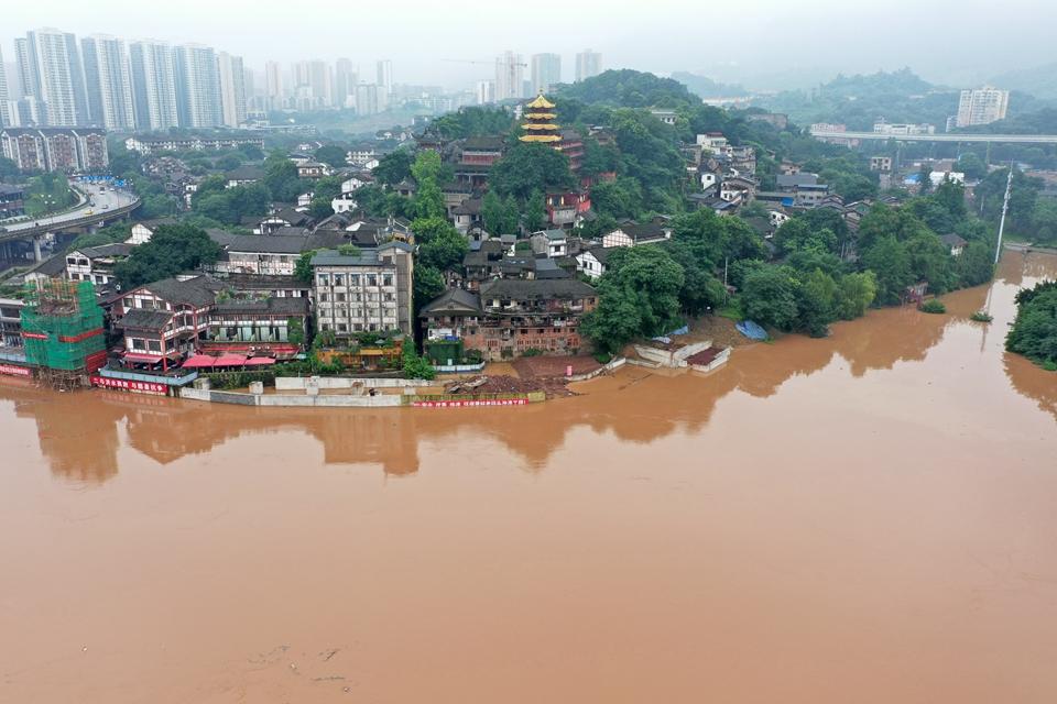 重慶:千年古鎮磁器口部分受淹