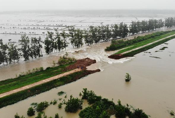 安徽滁河實施爆破泄洪 啟用兩處蓄洪區