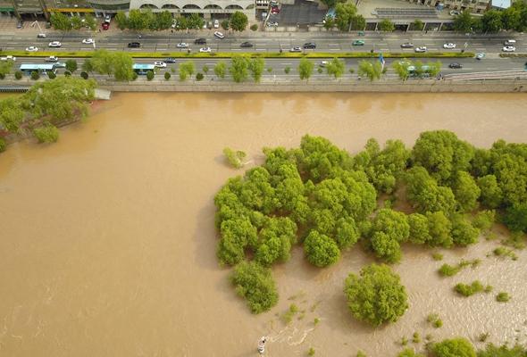 黃河出現2020年第2號洪水