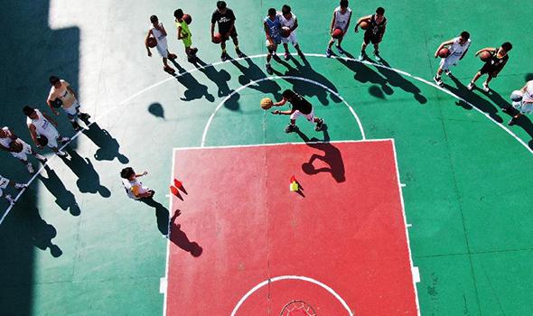 貴州錦屏:快樂籃球度暑假