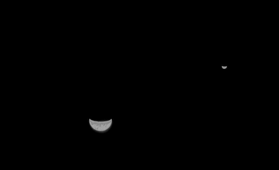 天問一號探測器傳回地月合影