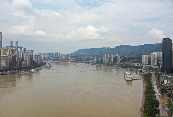 重慶中心城區水位退至警戒水位以下