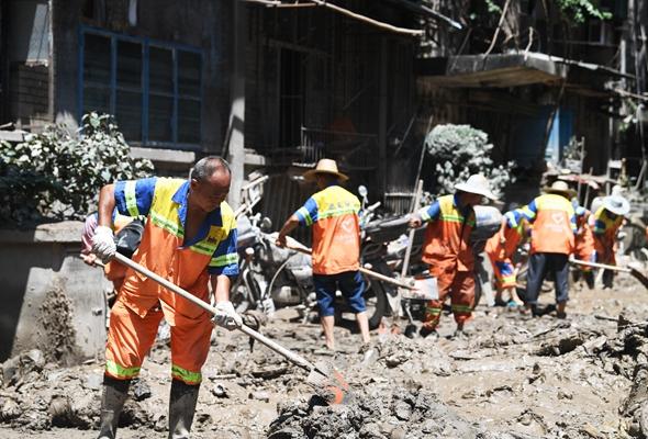 重慶江北:齊心協力開展災後恢復重建