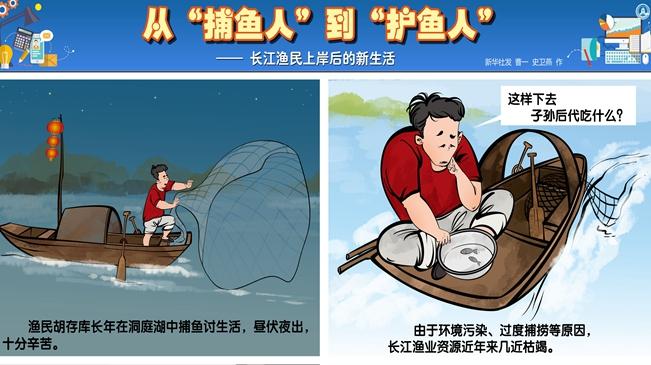 """從""""捕魚人""""到""""護魚人""""——長江漁民上岸後的新生活"""