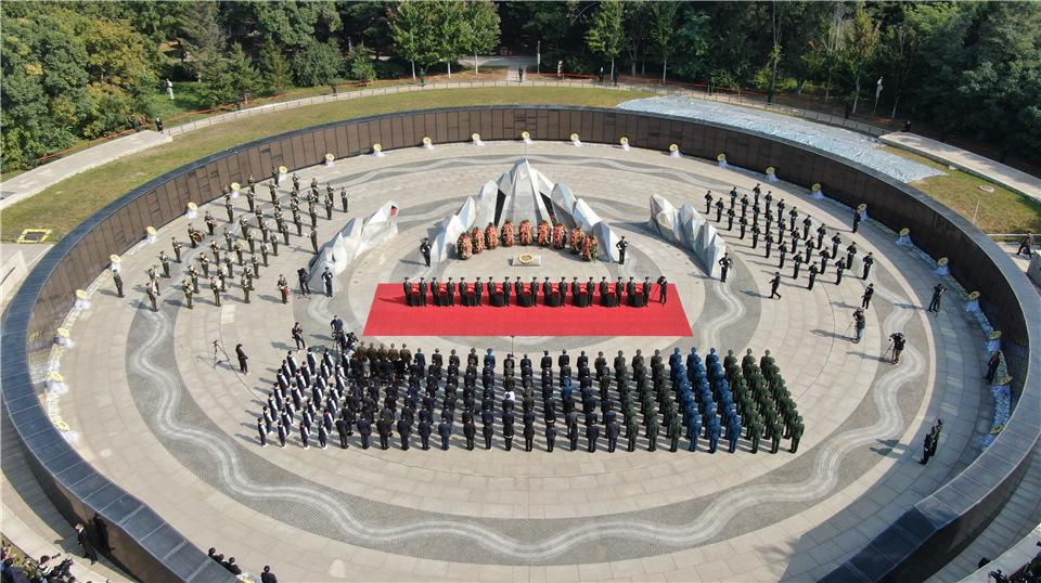 第七批在韓中國人民志願軍烈士遺骸在沈陽安葬