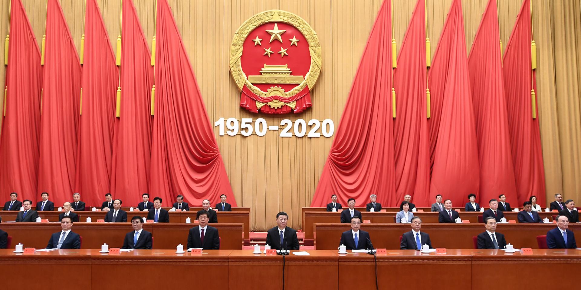 中华民族是吓不倒、压不垮的!