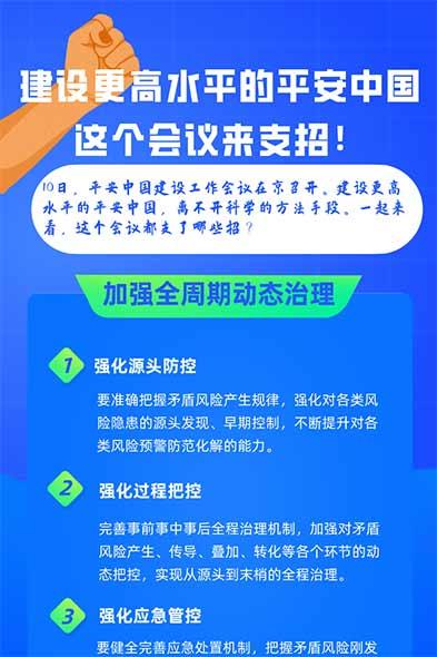 建設更高水平的平安中國 這個會議來支招!