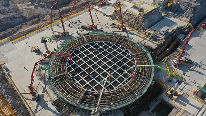 浙江三澳核電項目1號機組主體工程開工