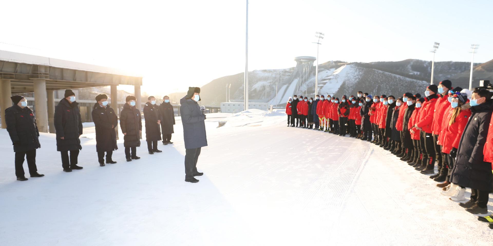 努力为世界奉献一届精彩、非凡、卓越的奥运盛会。