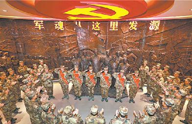 """第83集团军某旅""""红一连"""":军魂发源的地方,党旗高高飘扬"""