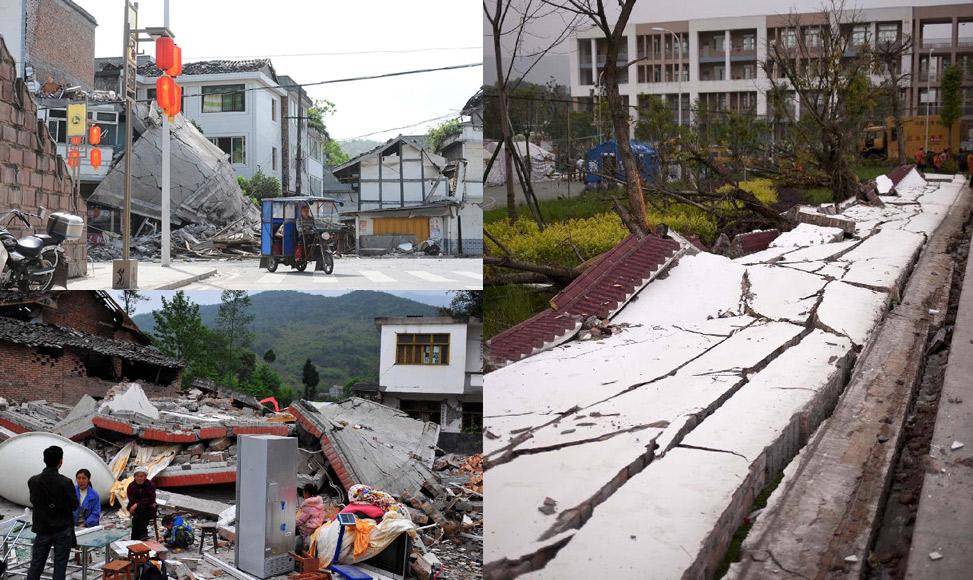 地震重災區直擊