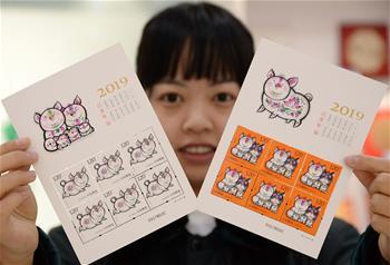 《己亥年》生肖豬特種郵票發行