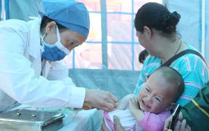 地震災區兒童免費接種疫苗