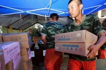 抗餓食品能量棒投入魯甸救災部隊廣受歡迎