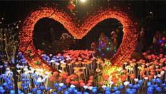 """福州:""""玫瑰花燈""""惹人愛"""