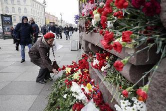 俄羅斯民眾悼念聖彼得堡地鐵爆炸遇難者