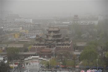 寧夏局地遭遇沙塵暴