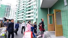 朝鮮居民遷入黎明大街新居