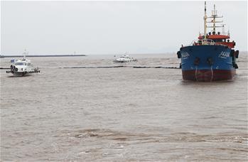 上海舉行海上安全及防污染綜合處置演習