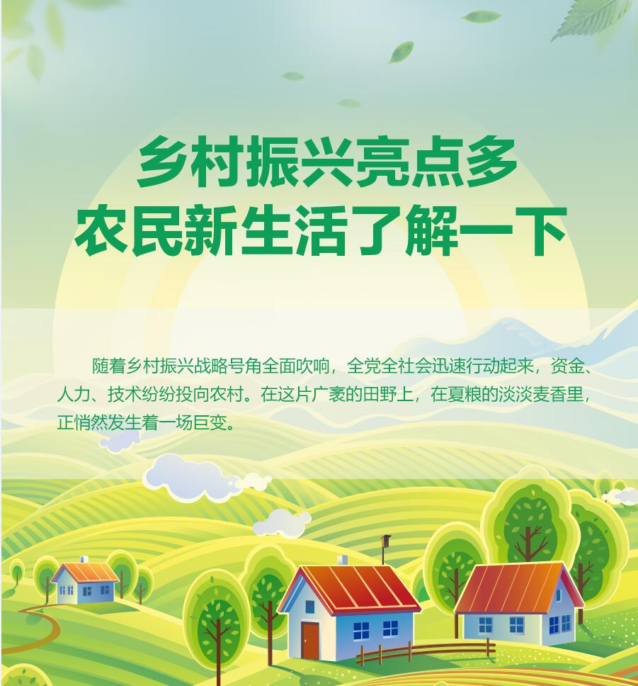 【圖解】鄉村振興亮點多 農民新生活了解一下
