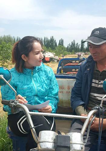 新疆喀什疏勒縣融媒體中心阿依帕夏•圖拉普:幸福,在這裏綻放