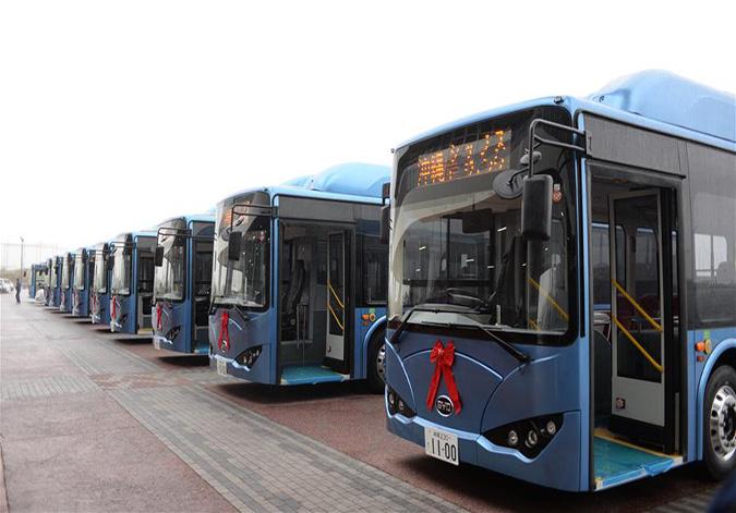 比亚迪纯电动巴士K9车队在日本冲绳交付使用