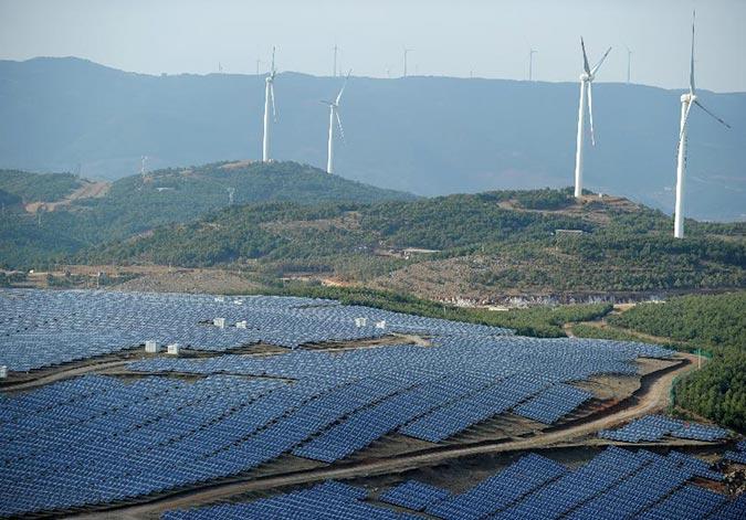 """贵州威宁:""""风光并美""""开启绿色能源新时代"""