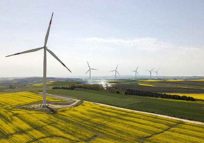 伊斯坦布尔的风力发电场