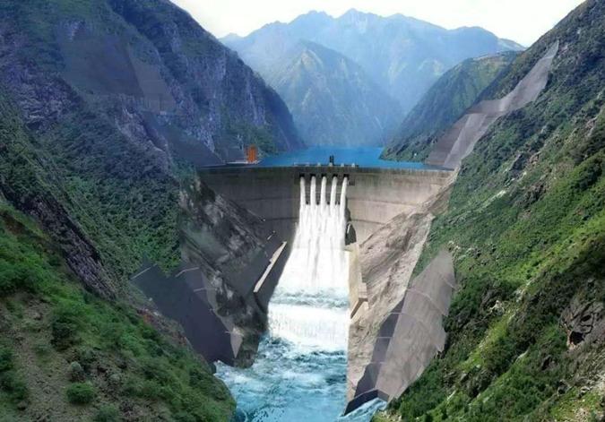金沙江上游最大水电站成功截流