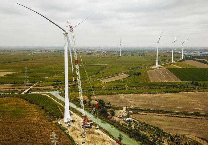 河北大城:風力發電推動綠色發展
