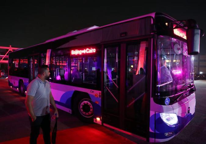 北汽福田向埃及交付首批電動公交車