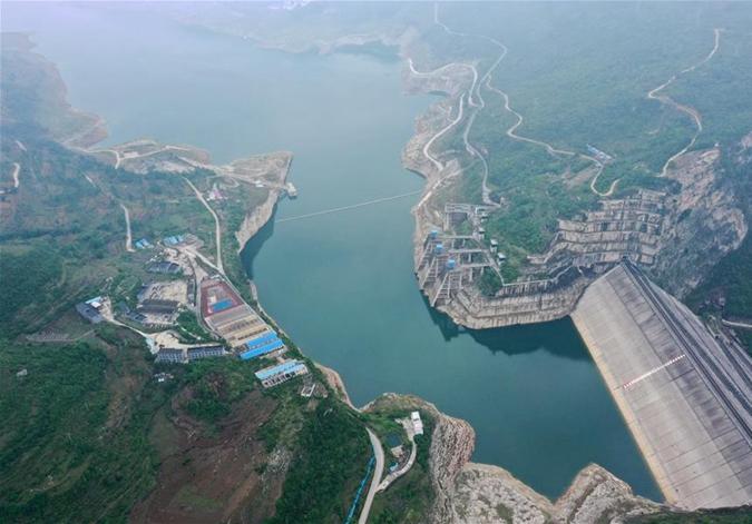 俯瞰貴州洪家渡水電站