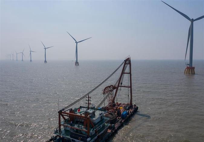 """舟山""""海上风电场""""建设稳步推进"""