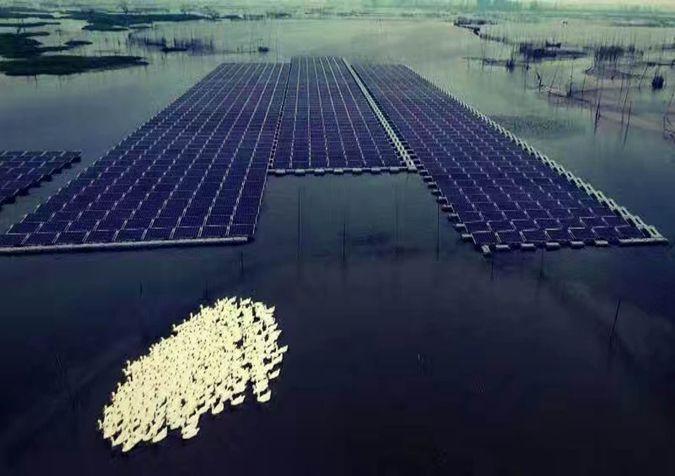 采煤沉陷区治理:漂浮式光伏趟新路