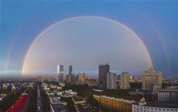 吉林長春:雨後彩虹