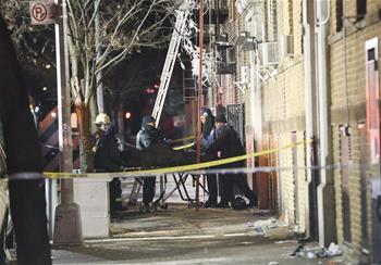 紐約一公寓發生火災 至少12人死亡