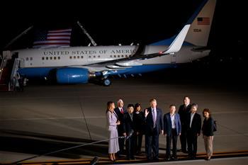 特朗普迎接從朝鮮返回的三名美國人