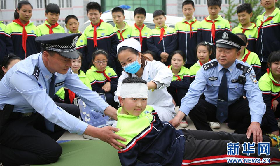 安徽淮北:防灾减灾模拟演练进校园